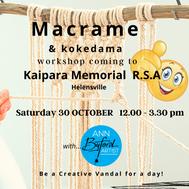 Kaipara  macrame workshop how to make macrame macrame near me
