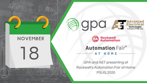GPA and AET presenting at Rockwell's Automation Fair at Home PSUG 2020