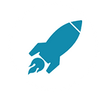 Rocket icon/ site symbol for Career Ed Career Technical Education