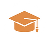 Graduation cap icon/ site symbol for GED