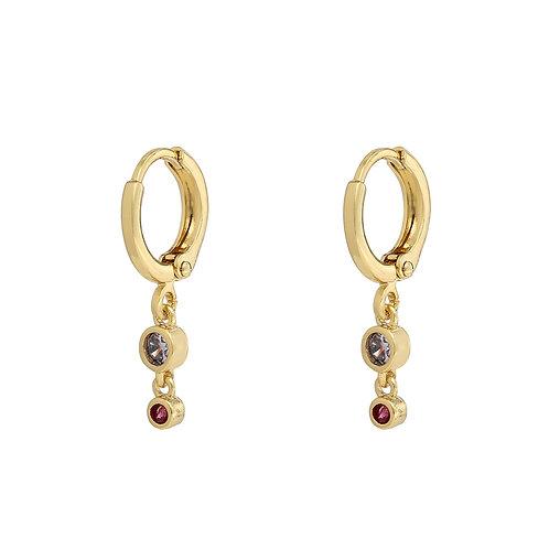 Two Zirconia Stones oorbellen