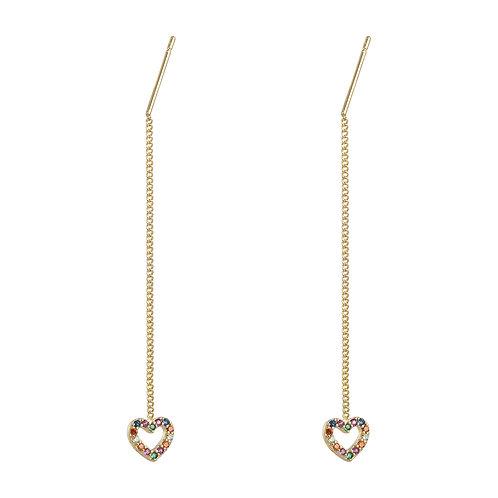 Chained Heart oorbellen