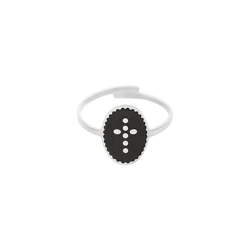 Dots Cross ring