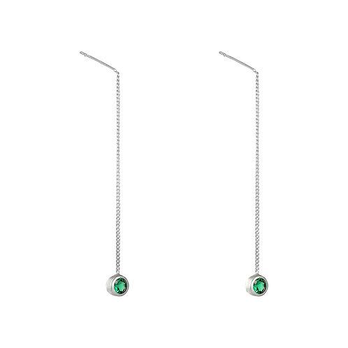 Chain Single oorbellen
