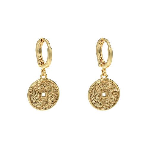 Oriental Coin oorbellen