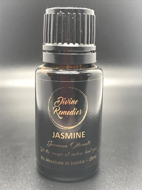 JASMINE (Jasminum Officinalis) - 3% absolute in jojoba oil 15ml (Organic)