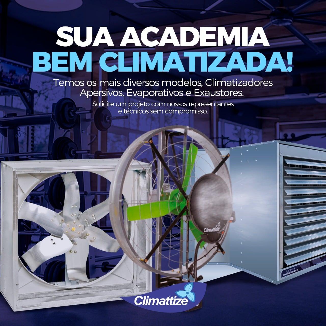 Sua academia climatizada