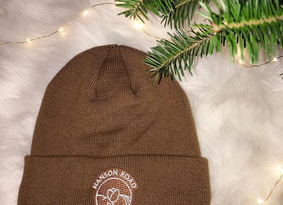 Caramel Fleece Lined Winter Hat