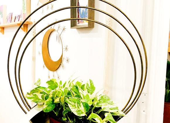 Brass Saturn Plant Hanger