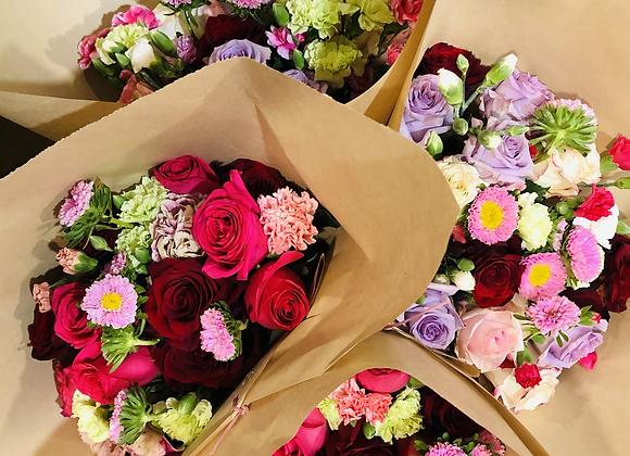 A Boho Dozen Roses + Cuties
