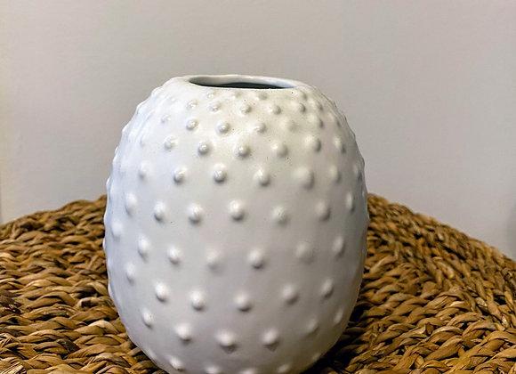 Bubbly White Vase