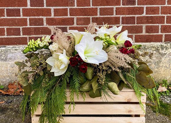 Seasons Greetings Christmas Centerpiece