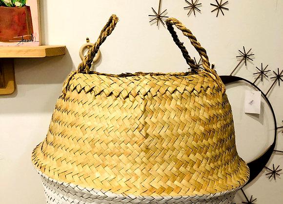 Yaya Basket White + Natural