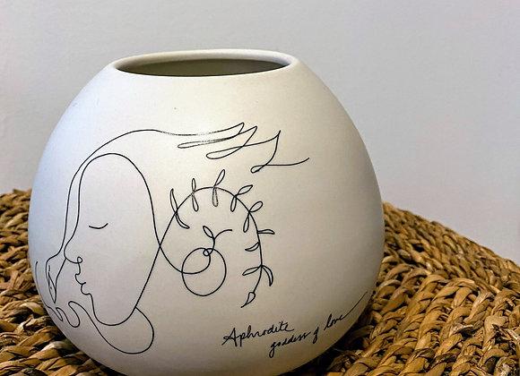 Aphrodite goddess of love vase