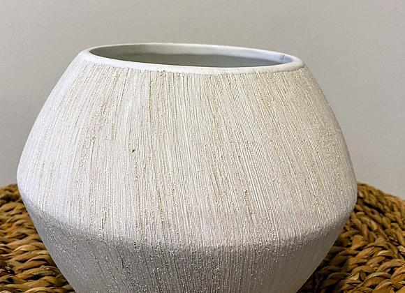 White Natural Pot