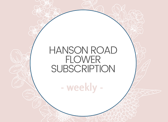 Weekly Flower Subscription - Medium
