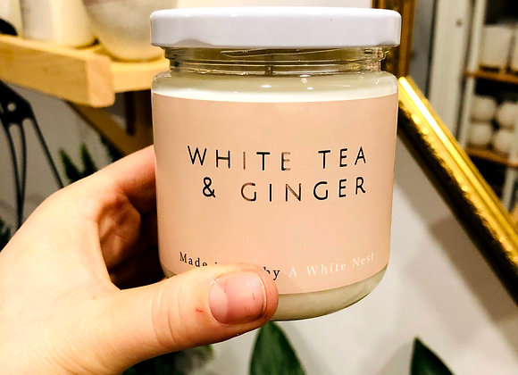 White Nest Candle - White Tea+ Ginger