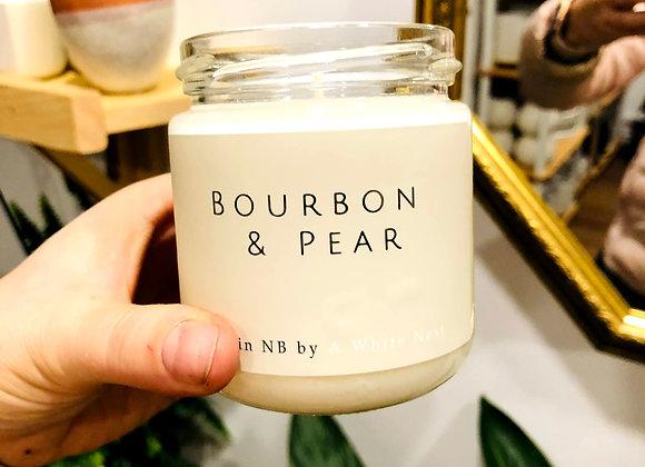 White Nest Candle - Bourbon + Pear
