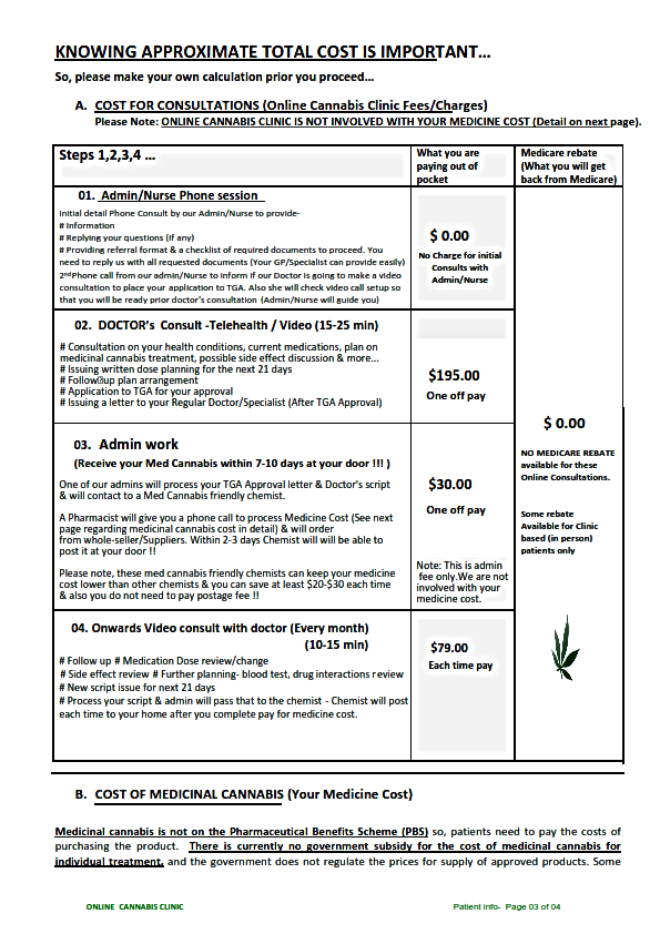 Patient Info Sheet_Online Cannabis Clini