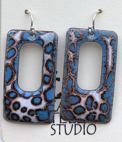 ERE 268 Enamel Earrings