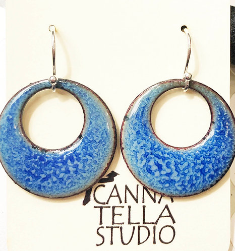 Earrings Crackle Enamel