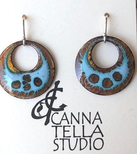 Earrings Crackle Enamel