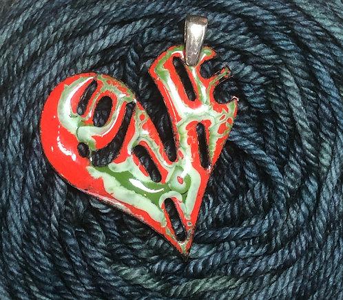 PE 341 Love Heart Pendant