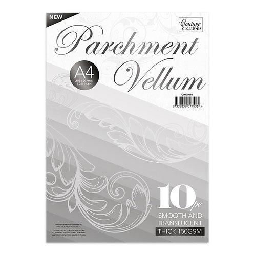 Thick Parchment Vellum - A4 - (150gsm / 10pc) - 210 x 297mm