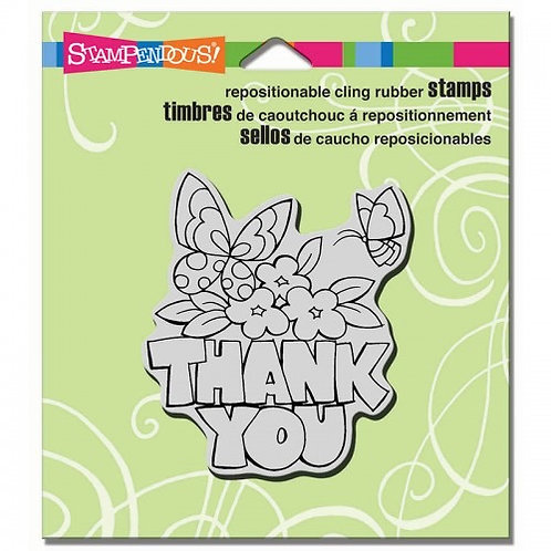 Chunky Thank You Stampendous Cling Mount Rubber Stamps