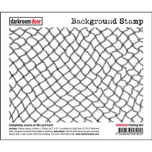 """Darkroom Door - """"Fishing Net""""   Background Rubber Stamp"""