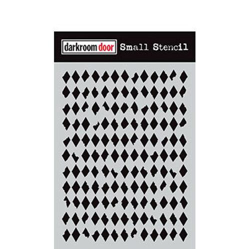 """Darkroom Door Stencil - """"Diamonds""""   4.5"""" x 6"""""""