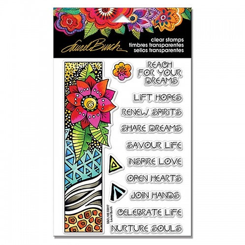 """""""Floral Border"""" Stampendous Clear Stamps by Laurel Birch 4""""x6"""""""