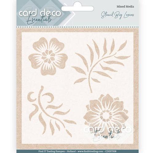 "Card Deco Essentials - Stencil Leaves 5"""