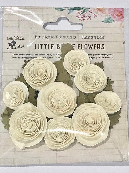 Little Birdie Layla Classic Cream Flowers 9 pcs