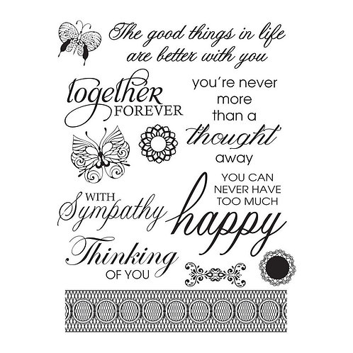 """Ultimate Crafts - 4x6"""" Clear Stamps"""