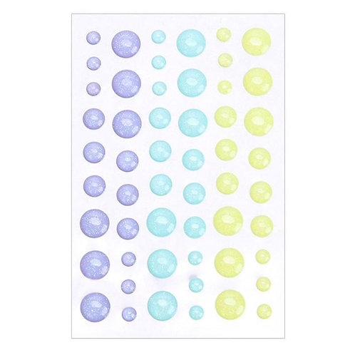 Sparkle Enamel Dots -  54 pieces various sizes