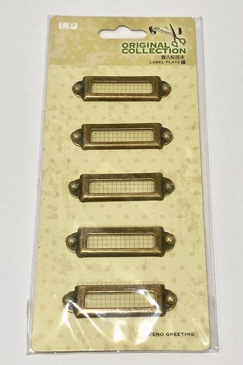 Bronze metal frames/tags with brad kit