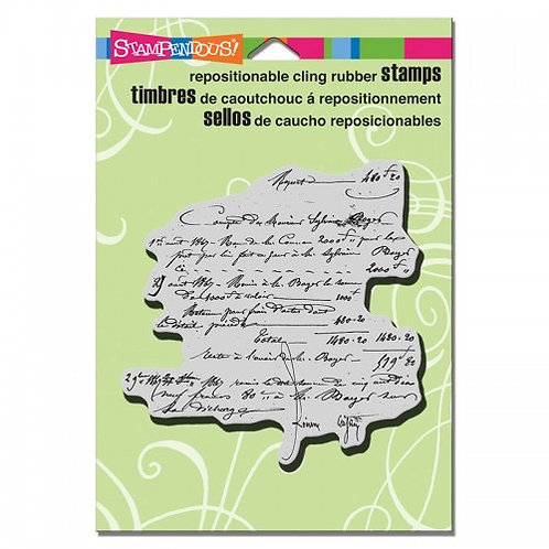 """""""Vintage Contract""""  Stampendous Cling Mount Rubber Stamps"""