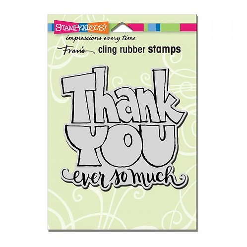 Great Big Thanks  Stampendous Cling Mount Rubber Stamps