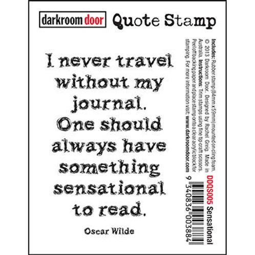 """Darkroom Door - """"Sensational"""" Quote Rubber Stamp"""