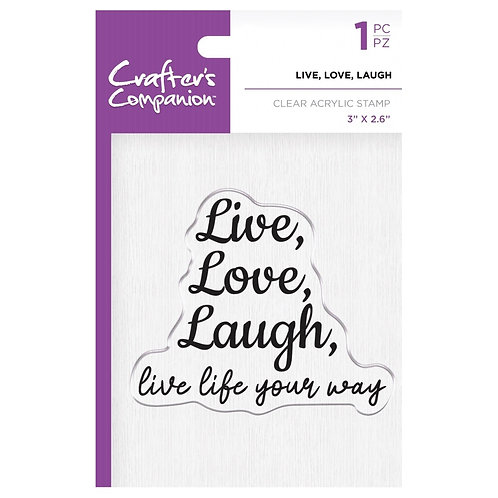 """Live, Love, Laugh Clear Acrylic Stamps  3""""x 2.6"""""""