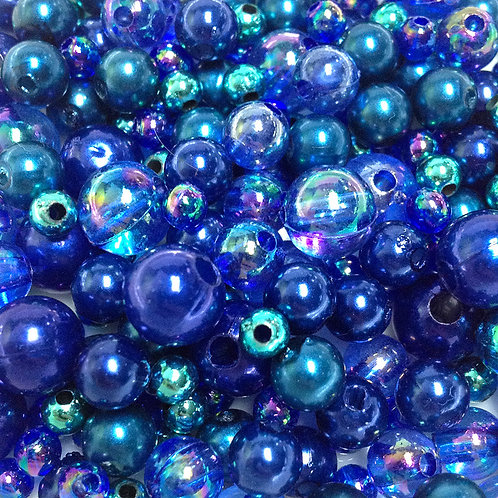 Blue Pearl Bead Mix - 30grams