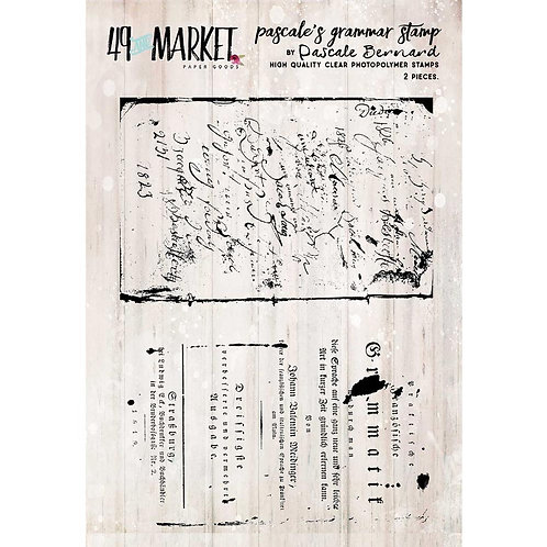 """49 And Market Clear Stamps 3""""X4"""""""