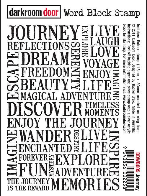 Journey - Darkroom Door Word Block Stamp