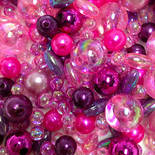 Pink Pearl Bead Mix - 30grams