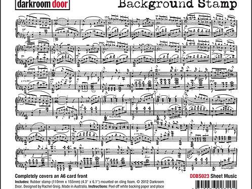 """Darkroom Door - """"Sheet Music""""   Background Rubber Stamp"""