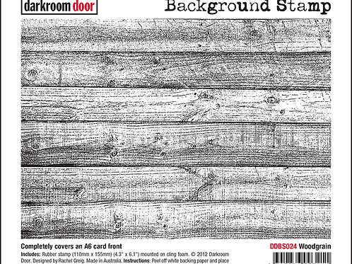 """Darkroom Door - """"Woodgrain""""   Background Rubber Stamp"""