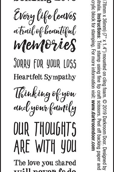 "Darkroom Door - ""Sympathy"" Sentiment Rubber Stamp"