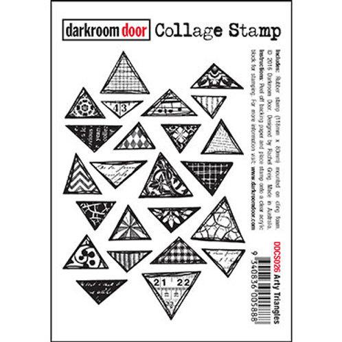 """Darkroom Door - """"Arty Triangles"""" Collage Rubber Stamp"""