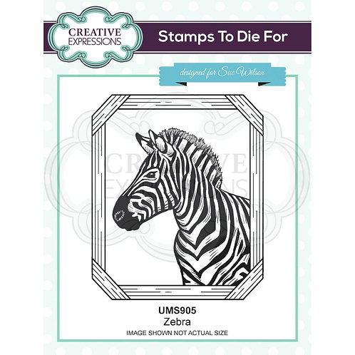 Creative Expressions Rubber Zebra Stamp By Sue Wilson